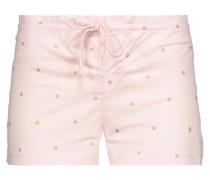 Metallic Printed Cotton-jersey Pajama Shorts Pastellrosa