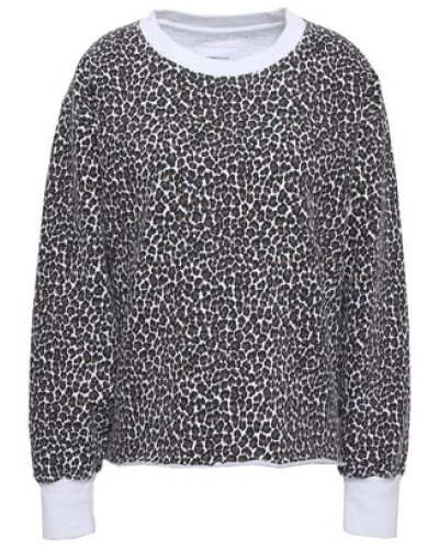 Leopard-print Cotton-fleece Sweatshirt Animal Print Size 0