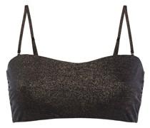 Lurex Bandeau Bikini Top