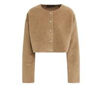 Cropped Jacke aus Fleece