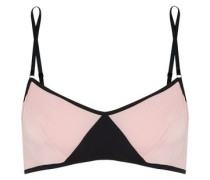 Vee two-tone stretch-jersey underwired bra