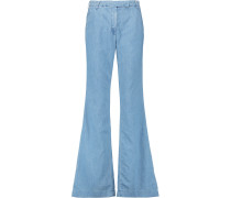The High Rise Neat Flared Jeans Heller Denim