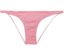 Brazil Striped Ribbed Low-rise Bikini Briefs