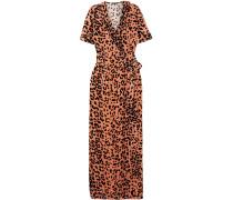 Leopard-print Velvet Robe