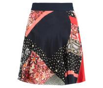 Printed Silk Mini Skirt Mehrfarbig