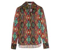 Sweetie Ragadang Printed Silk-chiffon Shirt Mehrfarbig