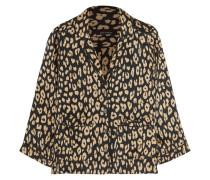 + Kate Moss Lake Leopard-print Washed-silk Pajama Shirt Leoparden-Print