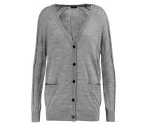 Merino Wool Cardigan Grau