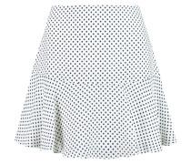 Danielle Polka-dot Silk-georgette Mini Skirt Weiß