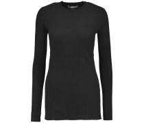Ribbed Cashmere Sweater Schwarz