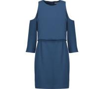 Savanna cold-shoulder draped crepe mini dress