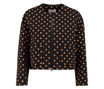 Polka-dot crepe jacket