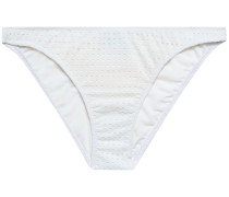 Aruba Perforated Low-rise Bikini Briefs