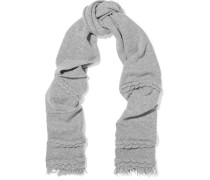 Cable Knit Wool And Cashmere-blend Scarf Grau