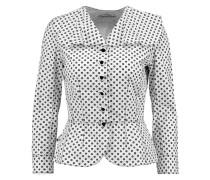 Printed Cotton Jacket Weiß