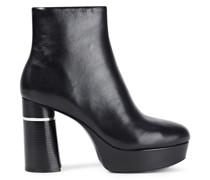 Ziggy Leather Platform Ankle Boots