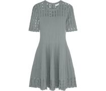 Cutout Stretch-knit Mini Dress Grau