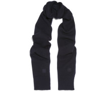 Vervier Ribbed Merino Wool And Cashmere-blend Scarf Mitternachtsblau