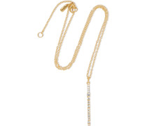 Twiggy Gold-tone Crystal Necklace