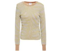 Metallic Zebra-jacquard Sweater