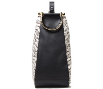 Wedge Leather And Elaphe Shoulder Bag