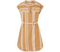 Deratu Minikleid aus Baumwollgaze mit Streifen und Gürtel