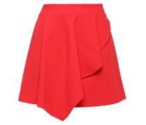 Nicky Asymmetric Draped Crepe Mini Skirt