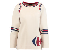 Carrefour Paneled Cotton Neoprene Sweater Creme