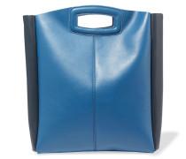 Two-tone Leather Tote Blau