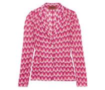 Crochet-knit jacket