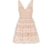 Sequin-embellished tulle mini dress