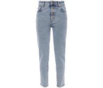 Woman Gaety Faded High-rise Skinny Jeans Light Denim