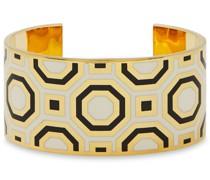 Gold-tone Enamel Cuff