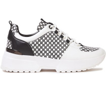 Paneled Logo-print Leather Sneakers