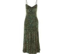 Kai Metallic Leopard-print Fil Coupé Stretch-jersey Midi Dress