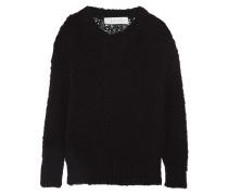 Gage Open-knit Cotton Sweater Schwarz