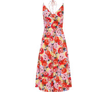 Blume Floral-print Crepe Halterneck Midi Dress