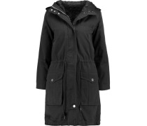 Cotton-twill Hooded Parka Schwarz