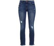 Halbhohe Jeans mit Schmalem Bein in Distressed-optik