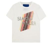 Mesa Bedrucktes T-shirt aus Baumwoll-jersey mit Flammgarneffekt