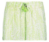 Printed voile shorts