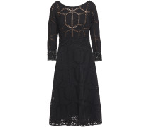 Rosewelle Macramé Lace-trimmed Crocheted Midi Dress