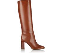 Devon Leather Knee Boots Braun