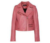 Collumba cropped leather biker jacket