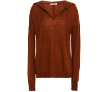 Distressed Cashmere And Silk-blend Hoodie