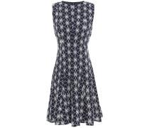 Flared Embroidered Cotton Mini Dress