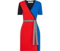 Francine Color-block Stretch-knit Wrap Dress