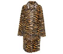 Reversible Tiger-print Shearling Coat
