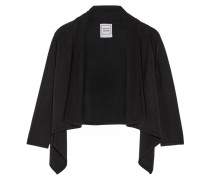 Ariana Cropped Stretch-knit Cardigan Schwarz