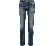 Mid-rise Slim-leg Jeans Blau